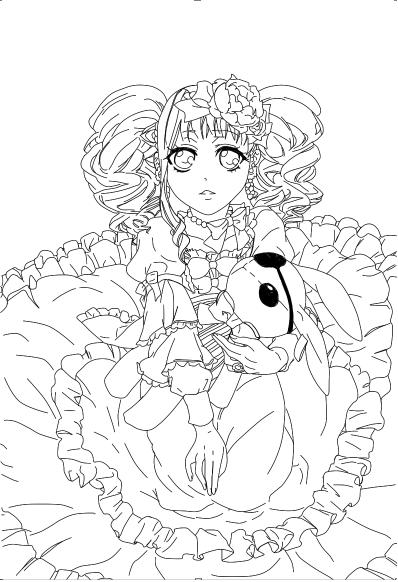 398x582 Amazing Black Butler Coloring Pages Model