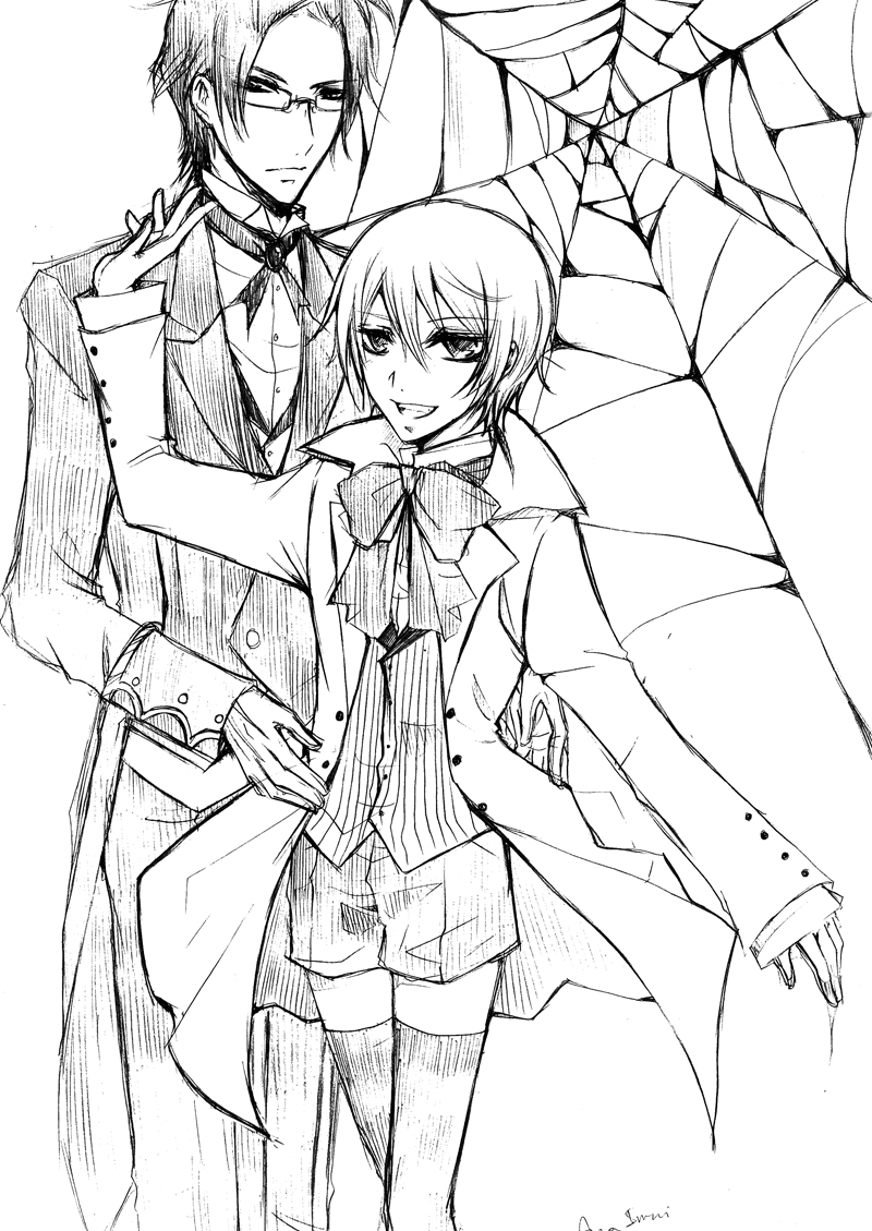 800x1129 Terrific Black Butler Coloring Pages With Wall