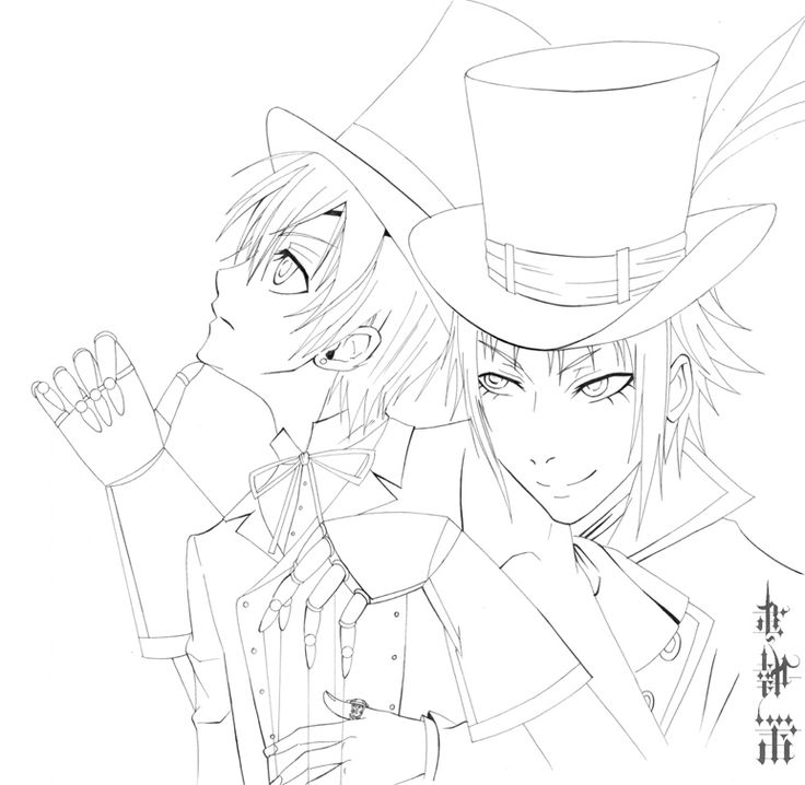 736x718 Black Butler Coloring Pages Best Black Butler Coloring Pages