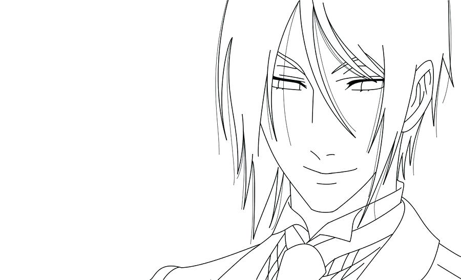 900x547 Sebastian Michaelis Coloring Pages As Well As Black Butler