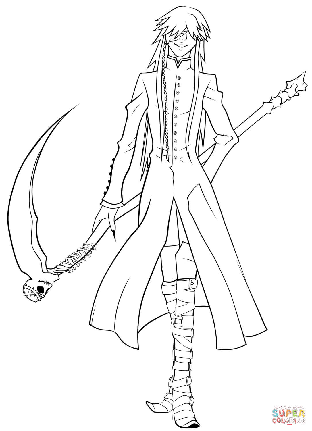 1086x1500 Black Butler Coloring Pages