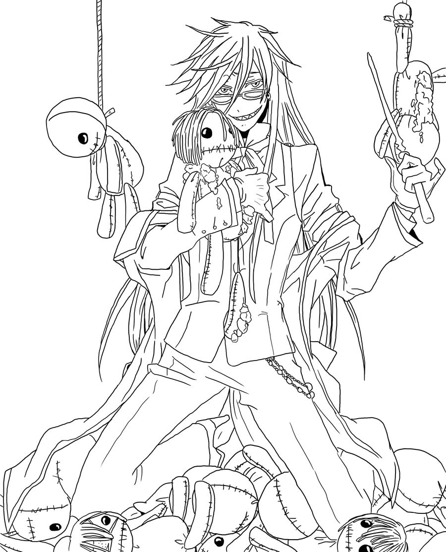 900x1113 Black Butler Coloring Pages Images In Amazing