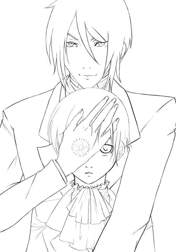 600x858 Learn How To Draw Ciel Phantomhive From Black Butler Coloring