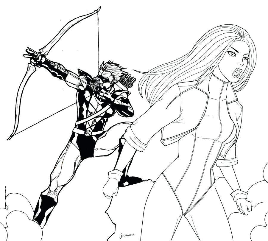 900x809 Black Canary Coloring Pages Green Arrow And Black Canary