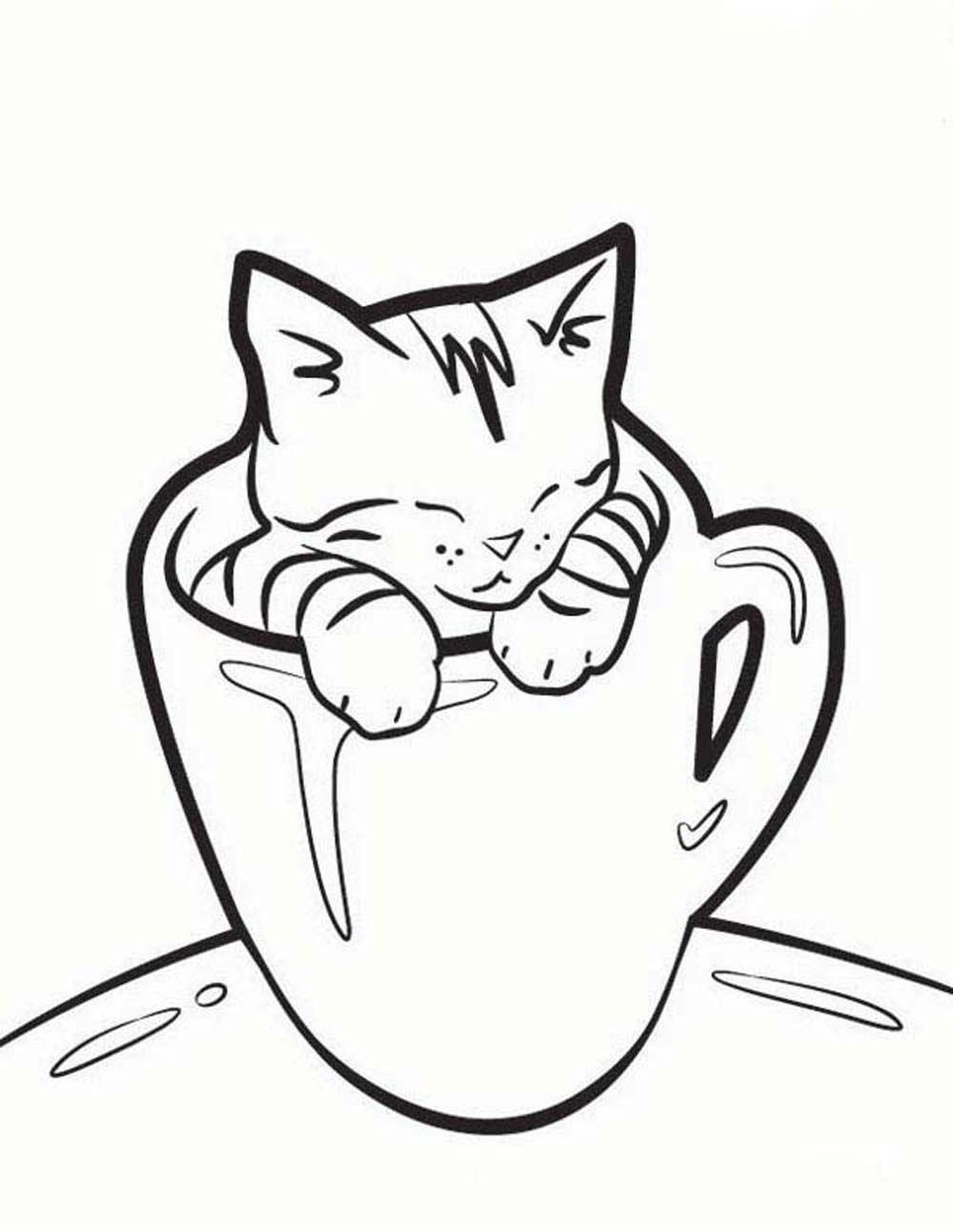 1000x1293 Opportunities Printable Pictures Of Cats Black Cat Coloring Pages