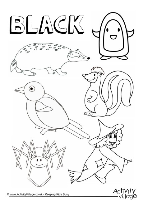 460x650 Black Things Colouring Page