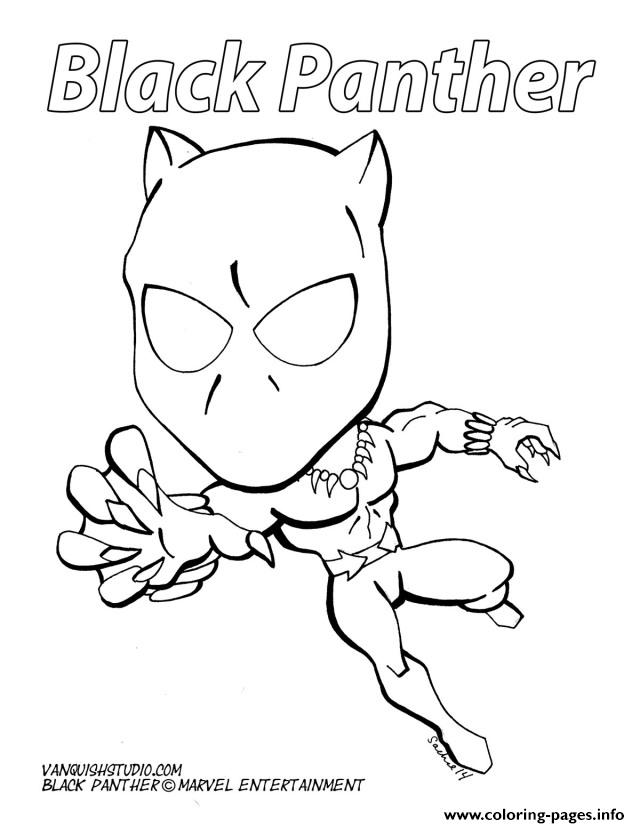 640x828 Cartoon Black Panther Marvel Coloring Pages Printable