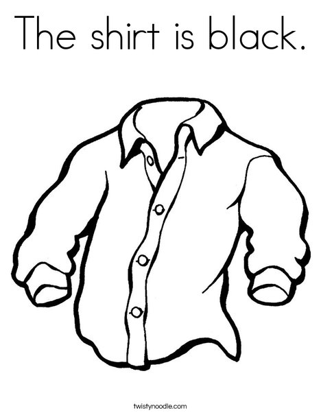 468x605 The Shirt Is Black Coloring Page