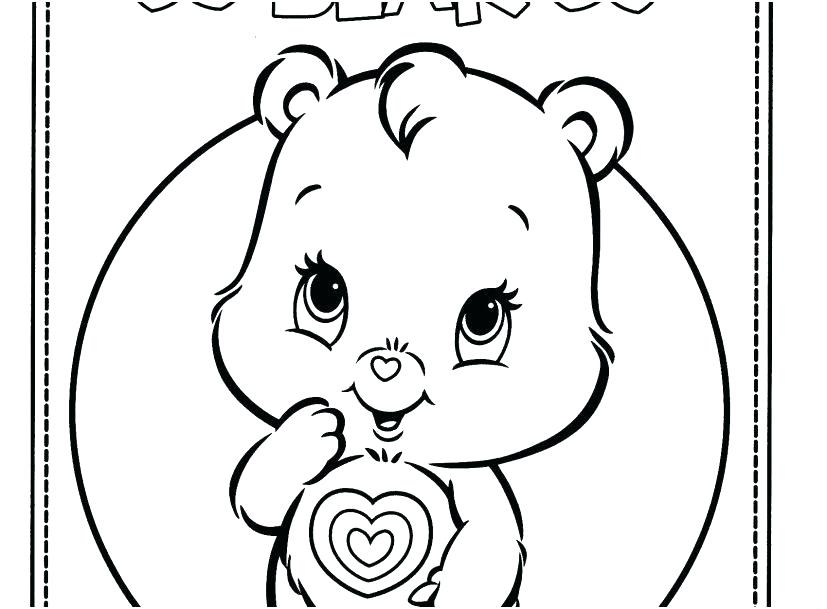 827x609 Coloring Page Bear