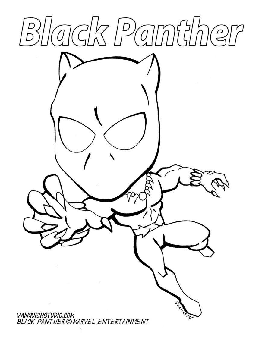 869x1125 Black Panther Coloring Pages Pictures Concept Free Marvel Online
