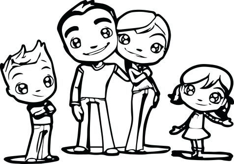 476x333 Family Coloring Pages Family Coloring Book Pages For Kids
