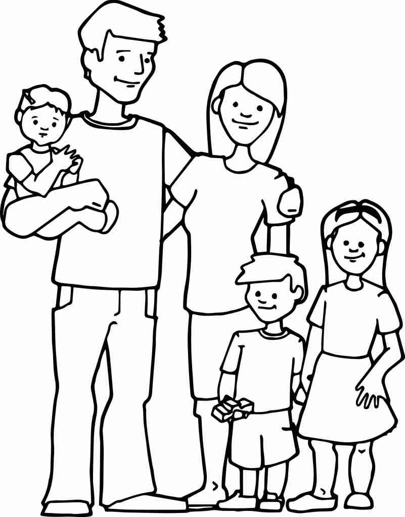 801x1024 Family Coloring Pages Free For Kids Printable My Lds I Love Whole