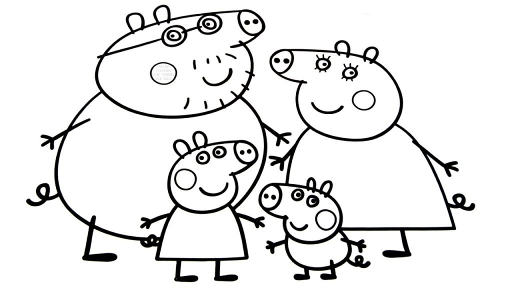 1024x576 Family Coloring Pages