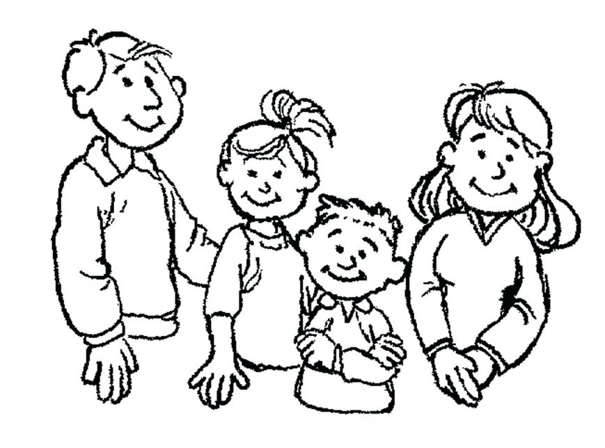 869x644 Get This Kids Printable Family Coloringges For Kindergarten