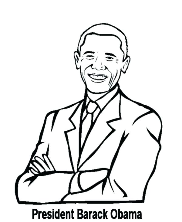 600x734 Obama Coloring Pages Awesome Coloring Pages Kids President Page