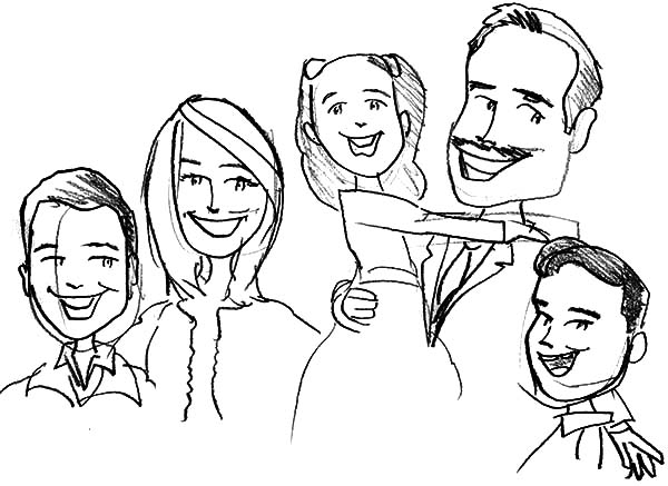 600x437 Sketch Of Joint Family Coloring Pages Batch Coloring