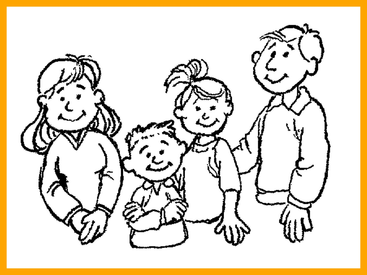 1556x1168 Stunning Family Clipart Black And White Small Of Coloring Pages