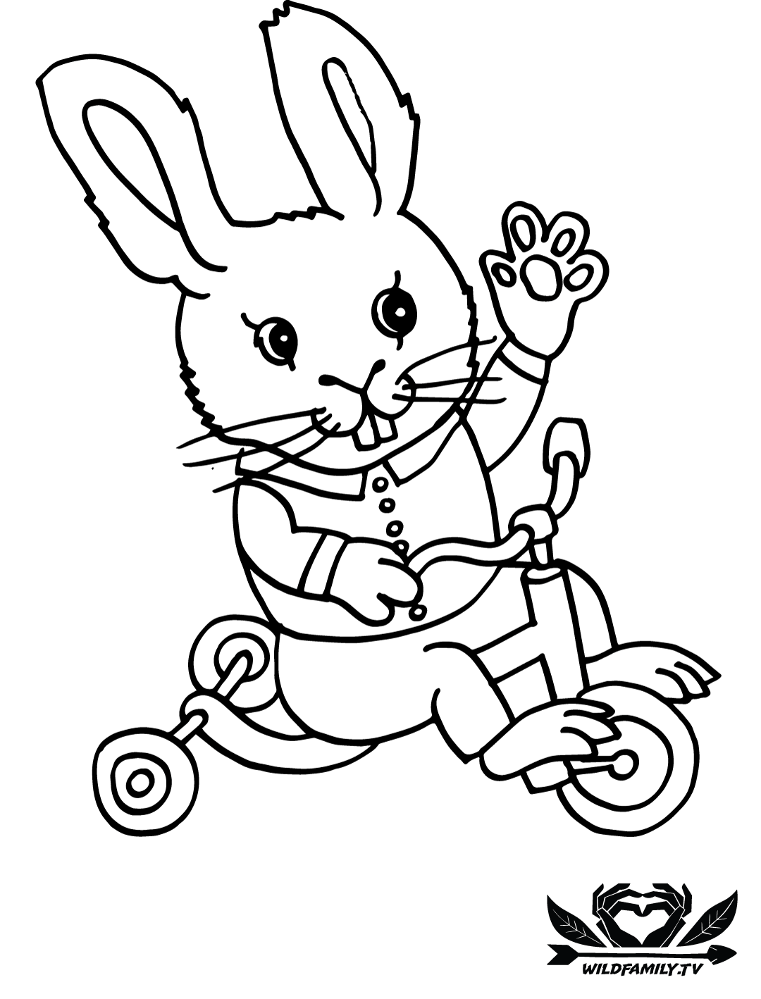 1080x1418 Wild Family Coloring Pages For Kids