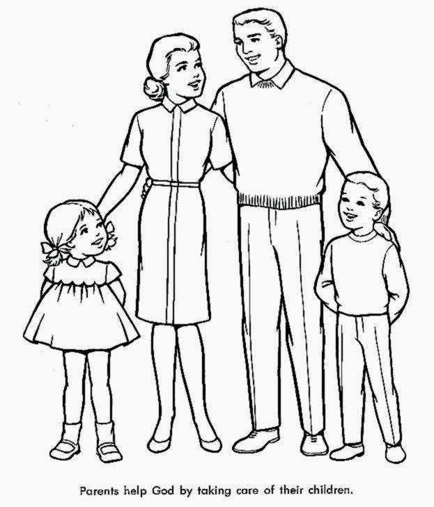 623x729 Coloring Pages Of Families