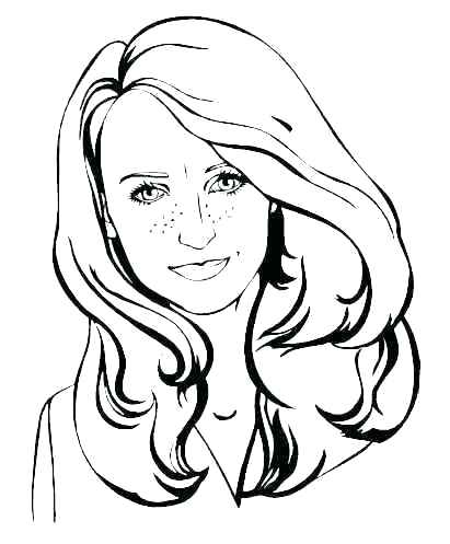 411x497 Realistic Girl Coloring Pages