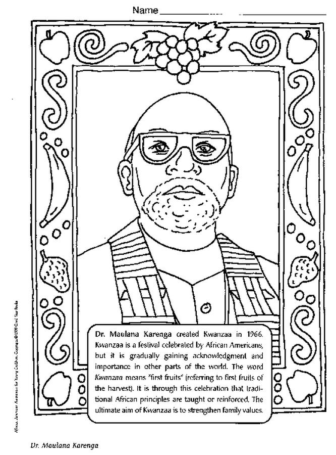 666x900 Dr Maulana Karenga Coloring Page
