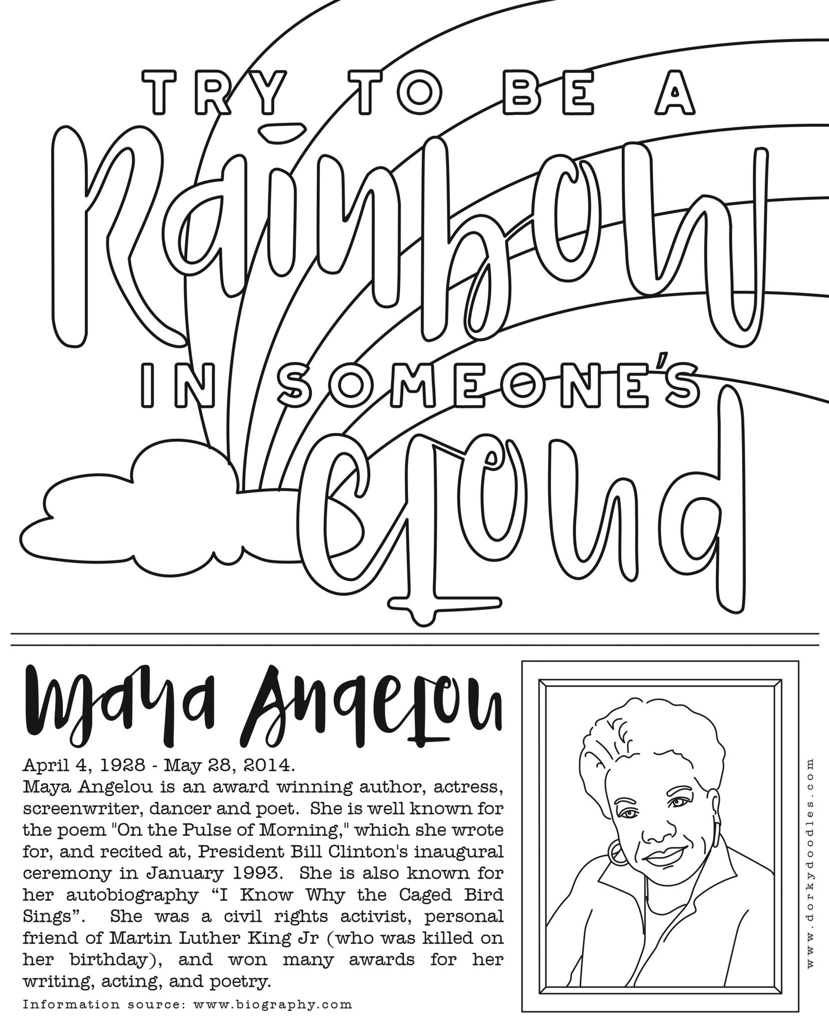 1656x2048 Coloring Page Maya Angelou New Coloring Pages For Black History