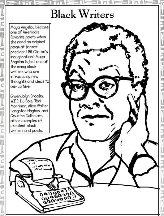 530x698 Maya Angelou Coloring Page