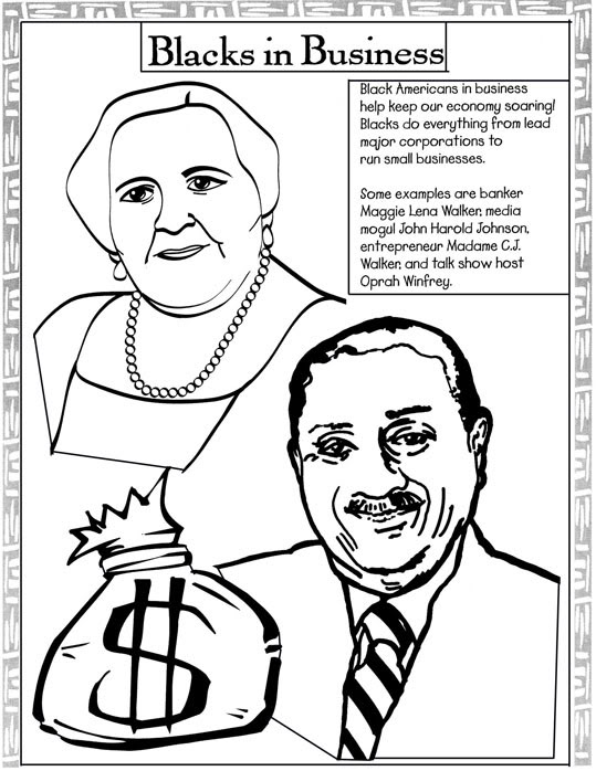 539x698 Black History Month Coloring Pages