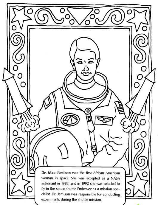 530x688 Dr Mae Jemison Coloring Page March Black History