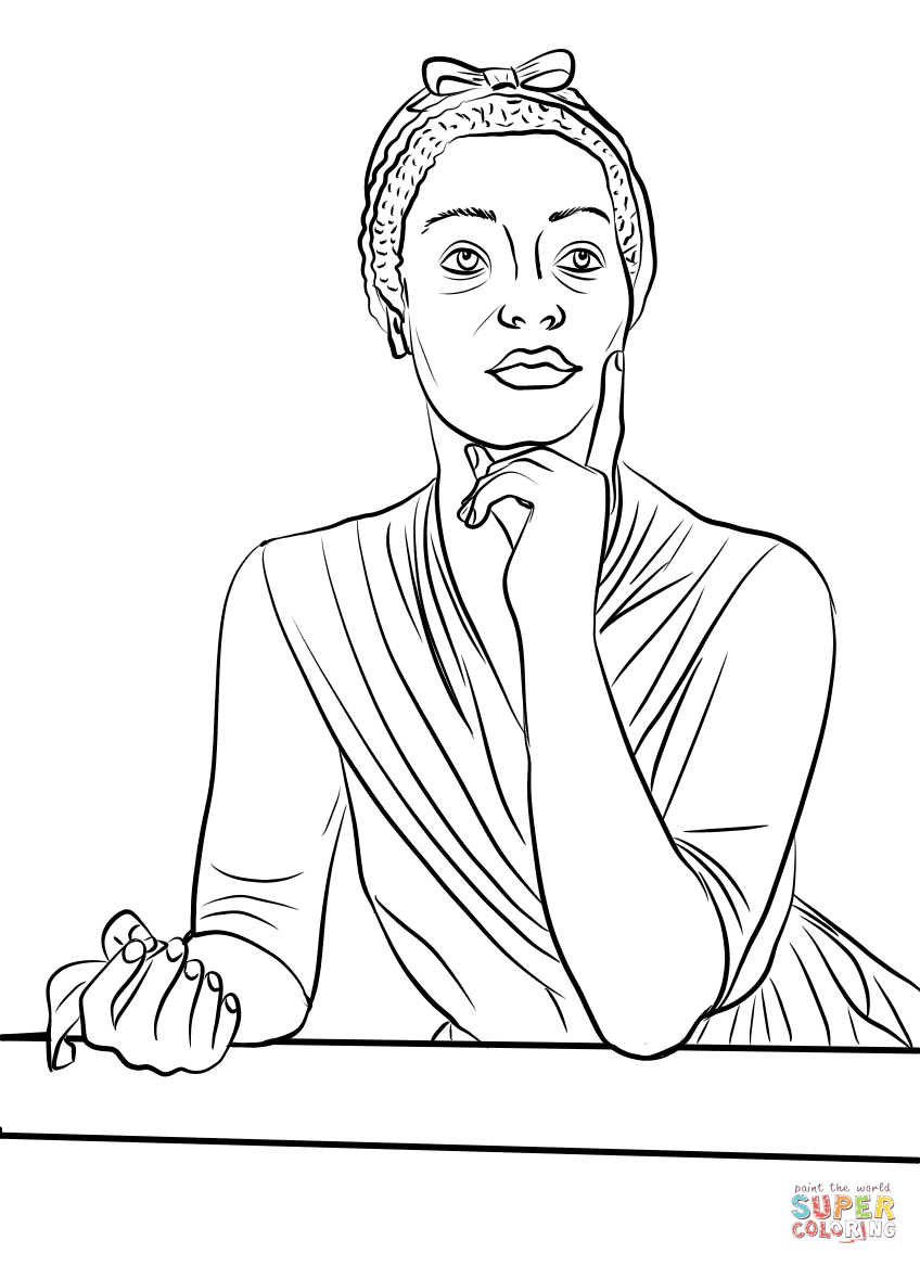 848x1167 Full Mary Mcleod Bethune Free Coloring Pages B