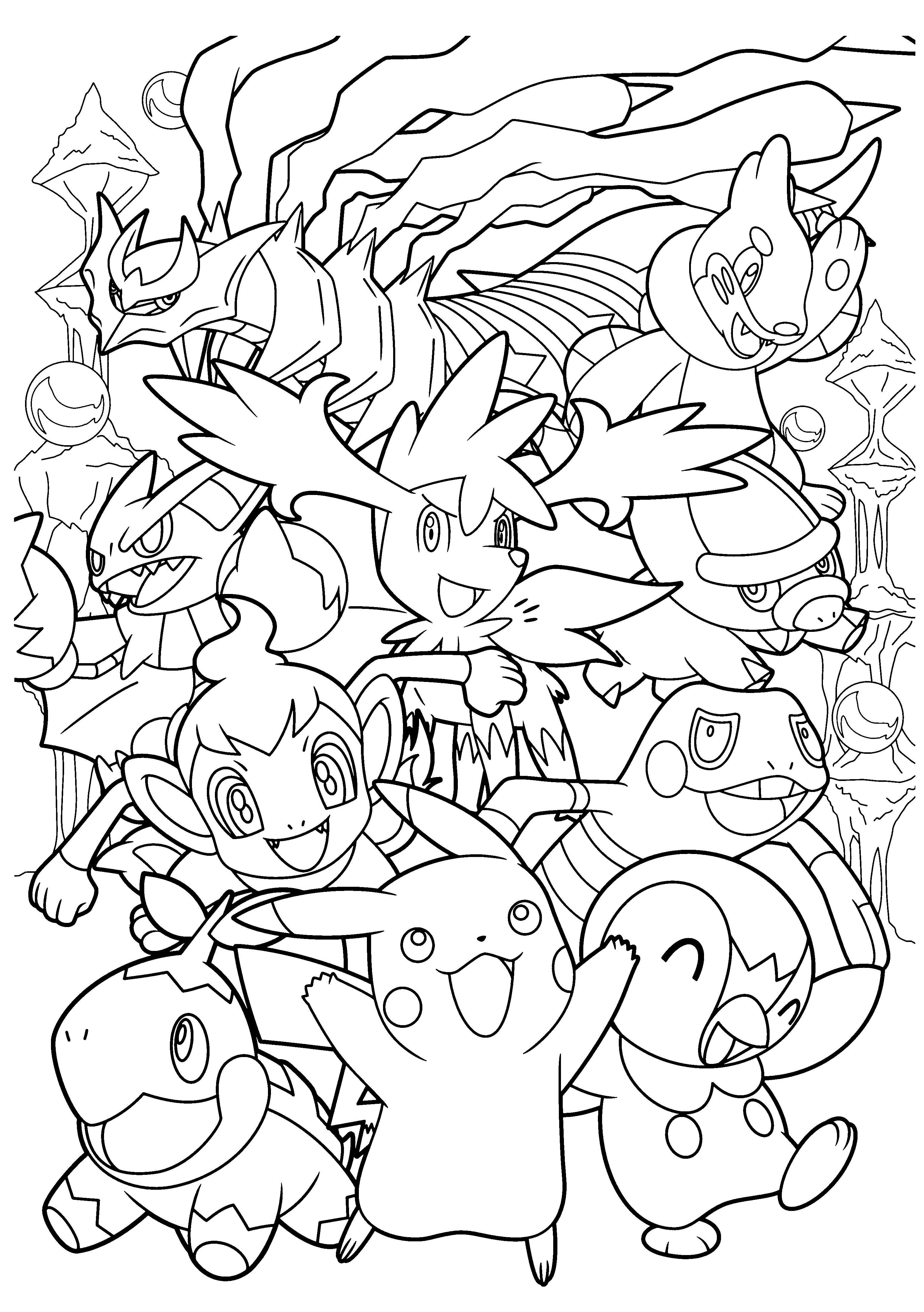 3100x4400 Coloring Page Tv Series Coloring Page Pokemon Diamond Pearl