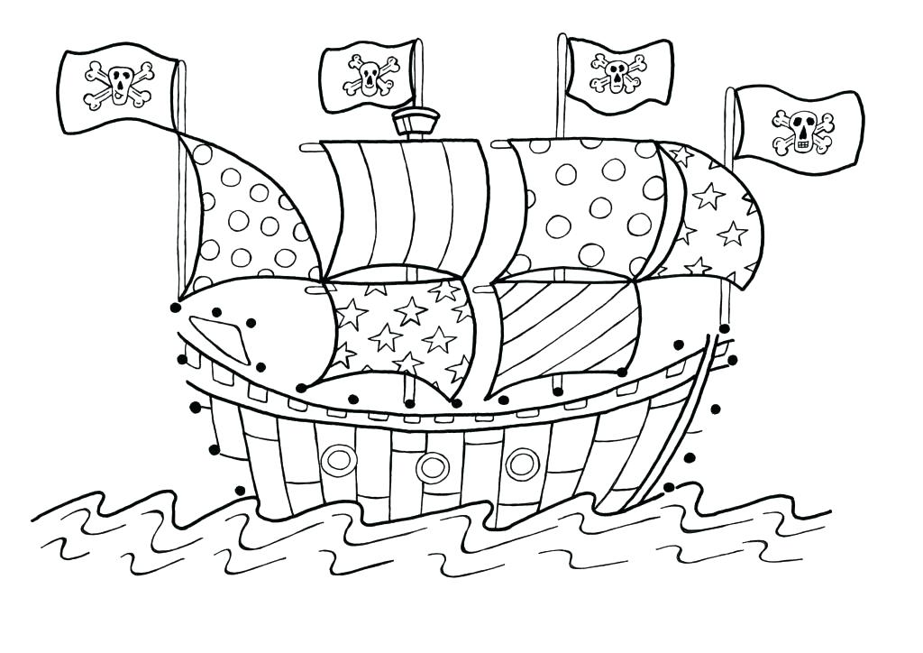1024x724 Pirate Ship Coloring Pages Pirate Ship Coloring Big Pirate Ship