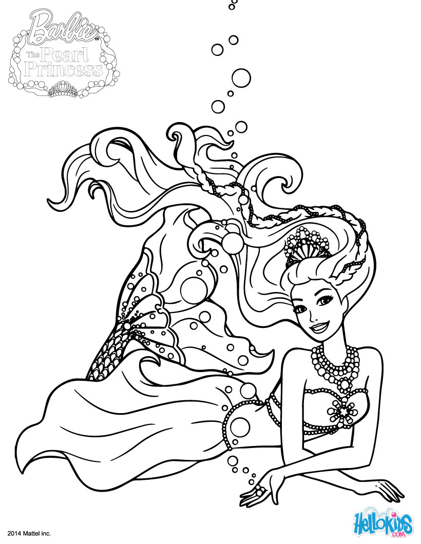 820x1060 Barbie The Pearl Princess Coloring Pages