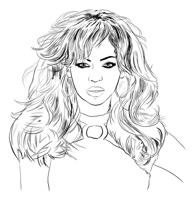 680x700 Coloring Pages Famous People Drawing