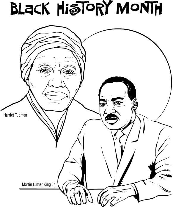 582x696 Free Printable Black History Month Coloring Pages