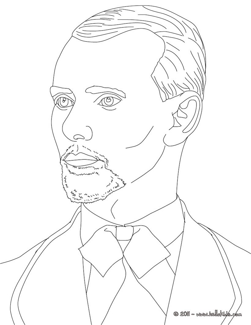 820x1060 Famous American People Coloring Pages