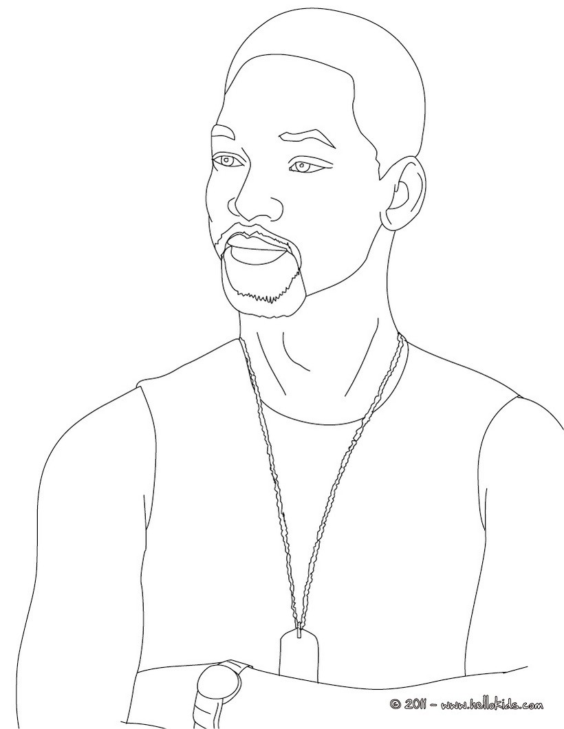 820x1060 Will Smith Coloring Pages