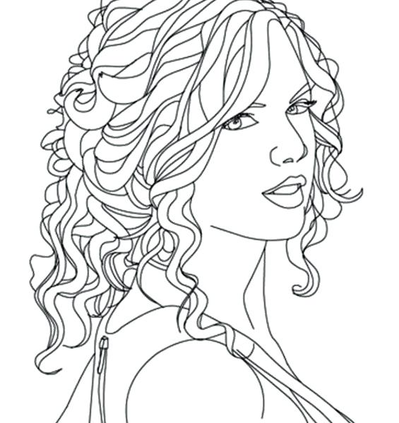 565x600 Taylor Swift Coloring Pages