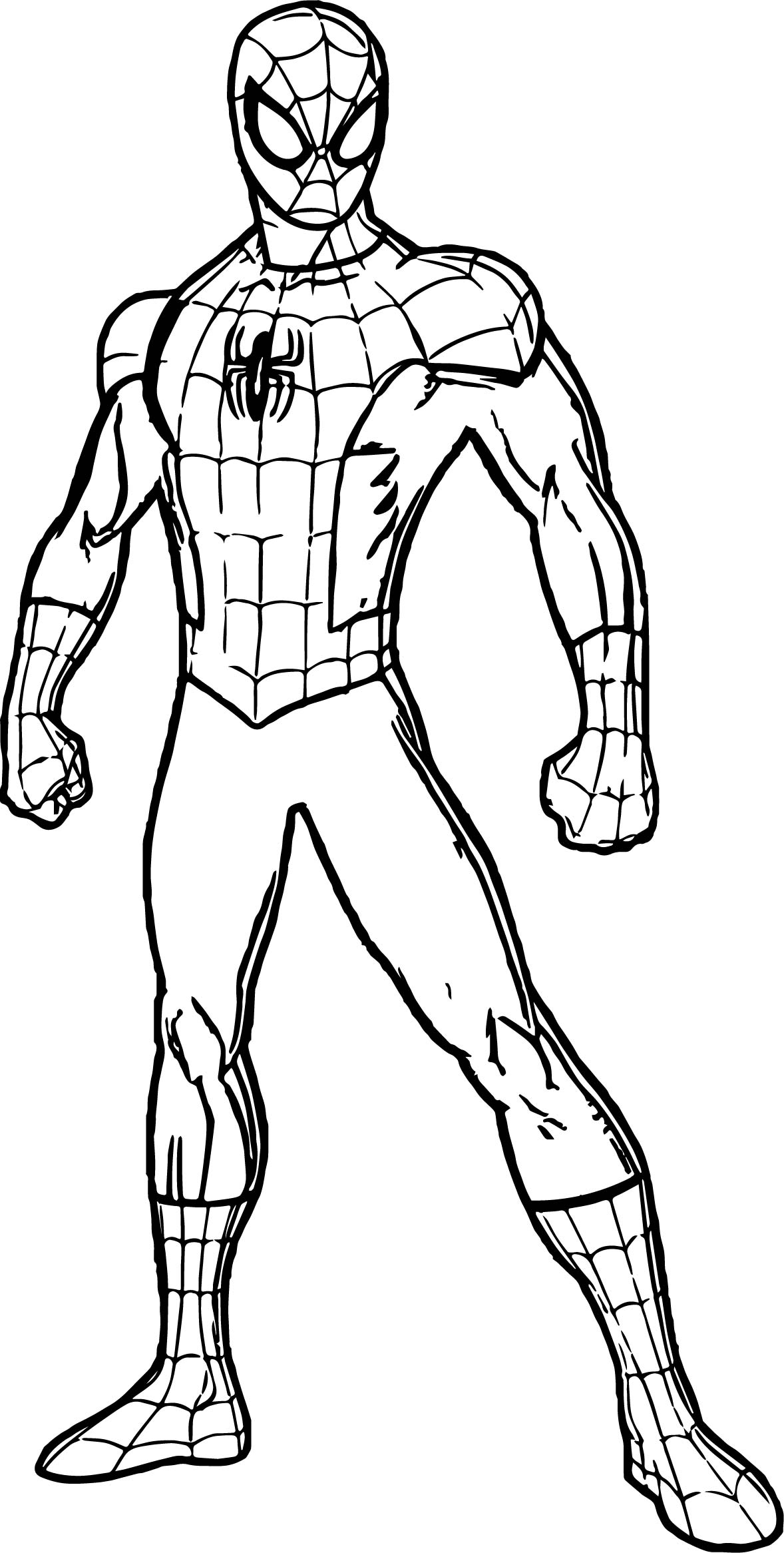 1178x2332 Coloring Pages Spiderman