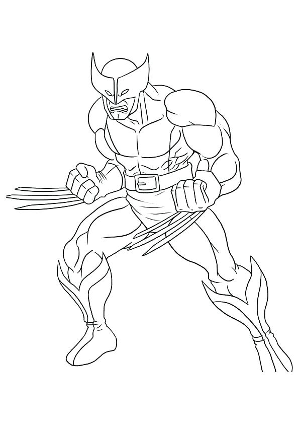 595x842 Outstanding Free Printable Spiderman Coloring Pages Wolverine