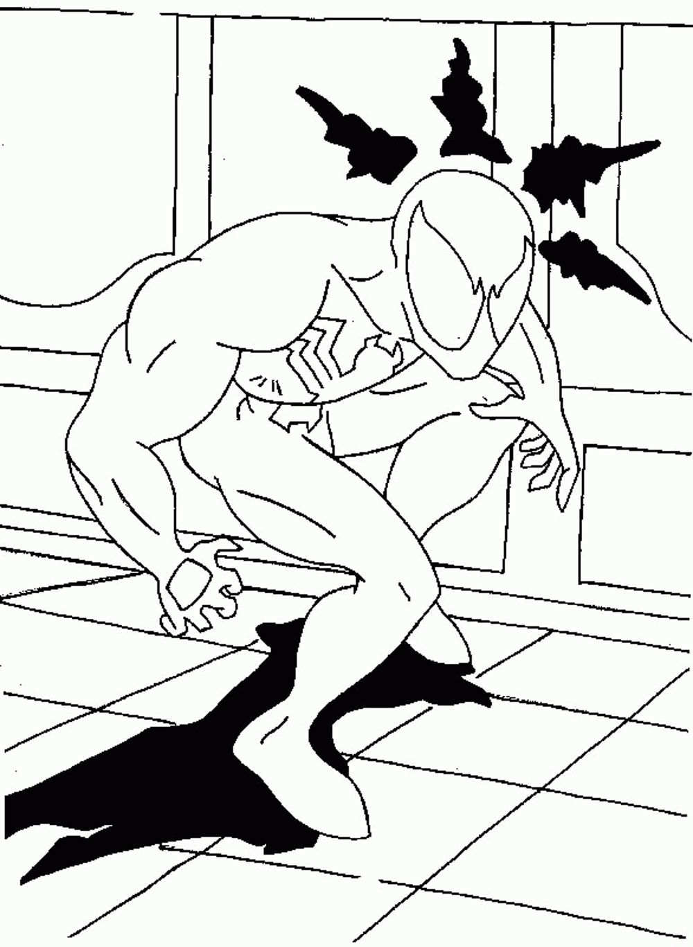 1000x1365 Black Spiderman Coloring Pages