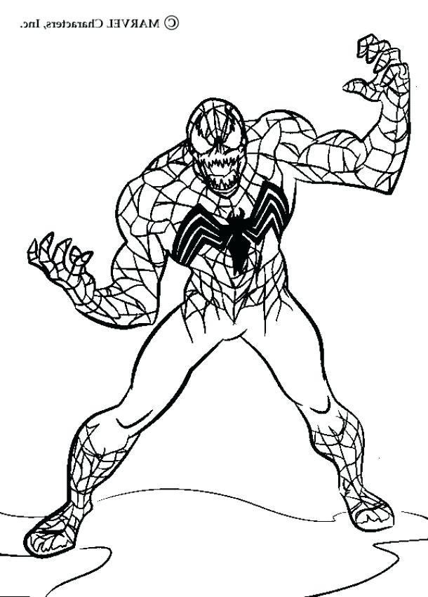 610x850 Black Spiderman Coloring Pages Black Suit Spiderman Coloring Pages