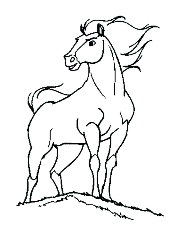750x1000 Horse Pic To Color Spirit Stallion Of The Coloring Pages Ideas