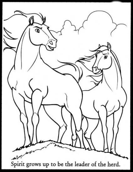 424x550 Spirit Stallion Color Spirit Stallion The Cimarron Coloring