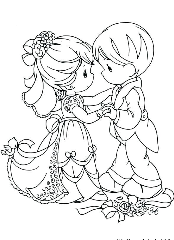 588x812 Bride Groom Coloring Pictures Bride And Groom Coloring Pages Image
