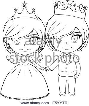 300x357 Bride And Groom Black And White Coloring Book Page Stock Vector