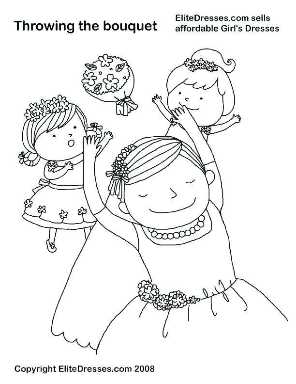 612x792 Coloring Pages For Weddings Printable Weddi Dress Colori Pages