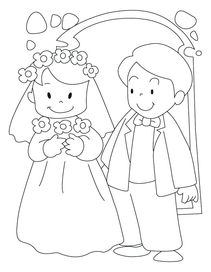 736x951 Free Wedding Coloring Pages Wedding Bouquet Coloring Pages Kids