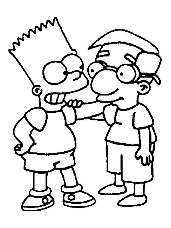 600x800 Ausmalbilder Die Simpsons Black Veil Brides Album