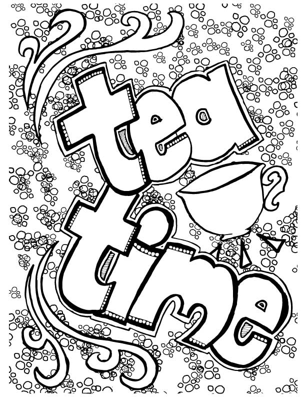 612x792 Tea Coloring Pages For Adults